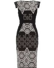 Stunning Dorothy Perkins Monochrome Print Pencil Day Evening Occasion Dress 12