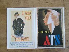 2 Reproduction Postcards of Second World War Posters. 1977.