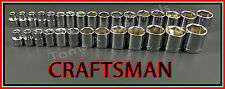 CRAFTSMAN HAND TOOLS 30pc  3/8 Dr 6 pt SAE & METRIC ratchet wrench socket set