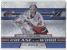 CAM WARD CAROLINA HURRICANES GOALIE 2010-11 ZENITH CREASE IS THE WORD #7