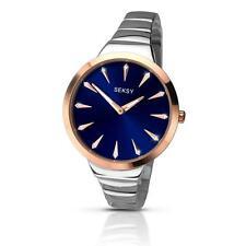 SEKSY 2216 Ladies Radiance Crystal Set Blue Dial Bracelet Watch RRP £89.99