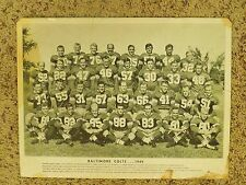 Vintage 1949 Baltimore Colts AAFC Football Black and White Photograph Print