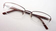 Brille Rahmen Gestell nur Ober Rand Titan lunettes braun leicht schmal GR M