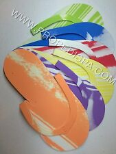48 PAIRS Disposable foam pedicure spa flip flop slippers assorted colors nail