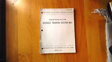 US Army TC 23-24. Dragon Medium Antitank Assault Weapon System M47 BOOK