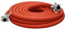 "COMPRESSOR AIR HOSE 3/4"" X 50' RED W/ 2 LUG HOSE ENDS (CHICAGO FITTINGS) 200 PSI"