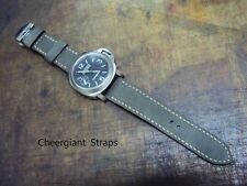Panerai Military green Suede custom watch strap band Cheergiant hand made straps