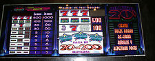 Las Vegas VINTAGE MEDIUM SLOT MACHINE PANEL GLASS~ BALLY ROARING 20'S EN ESPANOL