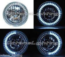 """7"""" White LED Angel Eye Ring Motorcycle Halo Headlight Blinker Turn Signal Light"""
