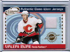 01/02 PACIFIC ATOMIC VALERI BURE #27 GAME-WORN JERSEY /428 FLORIDA PANTHERS