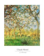 Claude Monet Der Frühling Poster Kunstdruck Bild 40x50cm - Kostenloser Versand