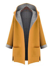 In STOCK Fashion Women's Long Coat Jacket Trench Hoody Wool Parka Outwear Plus +