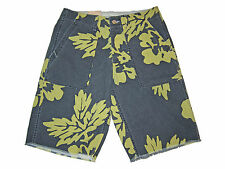 Ralph Lauren Denim and Supply Weathered Blue Yellow Floral Polo Beach Shorts 29