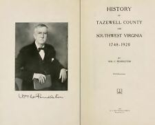 1920 TAZEWELL County, Virginia VA, History & Genealogy Family Tree DVD CD B49