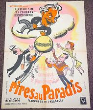 Affiche de cinéma : RIRES AU PARADIS de MARIO ZAMPI
