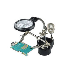 Helping Hand Magnifier with LED Light&Soldering Stand