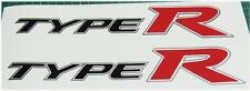 Honda Civic FN2 Type R OEM Red x 2 Side Panel Stickers Decals K20 K Series JDM