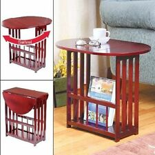 Drop Leaf Table Space Saving Coffee Revolve Top Cherry Finish Gramercy NEW
