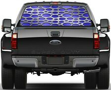 Punch Light Blue Carbon Fiber Rear Window Graphic Decal for Truck SUV Vans
