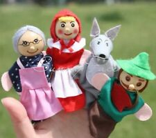 Lot Of Four New Little Red Riding Hood Finger Puppet Toy Dolls