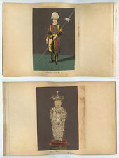 DBL SIDED - 2 COLORED PORTRAITS - ROME SWISS GUARD IN UNIFORM + ROYAL CHILD