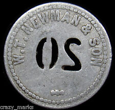 W.T. Newman & Son   GOOD FOR $0.20 in Merchandise TRADE TOKEN #MD350