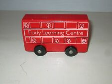 EARLY LEARNING CENTER ELC VINTAGE 1990'S WOODEN DOUBLE DECKER BUS & WOOD TRUCK