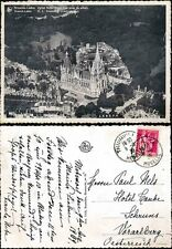 BELGIUM 1939 AERIAL VIEW REAL PHOTO CARD NOTRE DAME..MOSELLE to AUSTRIA...SABEPA