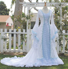 Lace Fantasy Medieval Fairy Wedding Dresses Gowns Fairy Tale Narnia Style Custom