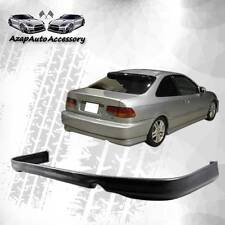 Fit 96 97 98 Honda Civic Black Rear Bumper Lip Spoiler Poly Urethane PU
