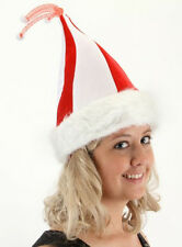 WIGGLY WORM CANDY CANE SANTA HAT HOLIDAY COSTUME ACCESSORY