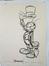 "JIMINY CRICKET POSTER 1993 DISNEY ART EDITIONS 19 3/4"" X 27 1/2"""