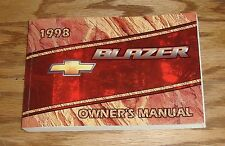 Original 1998 Chevrolet Blazer Owners Operators Manual First Edition 98 Chevy