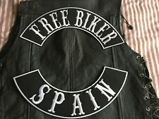 Free Biker Spain Patch Banner XL Set je 39x8,7 cm Biker Kutte MC ohne Kutte