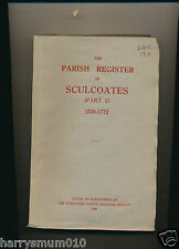 THE PARISH REGISTER OF SCULCOATES 1538 1772 YORKSHIRE ARCH SOC