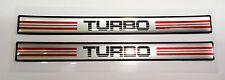 Vintage 80's 90's Automotive Door Handle Insert Accent Trim TURBO RED