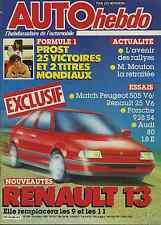 AUTO HEBDO n°546 du 29 Octobre 1986 PORSCHE 928S R25 V6 505 V6