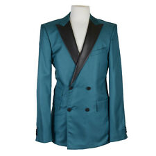 "Hugo Boss ""Dangton/King_FS"" 100% Silk Leather Trim Green Suit US 38L EU 48L"