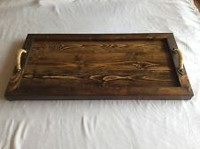 """Rustic Designer Reclaimed Distressed or Pallet Wood Tray 12"""" x 16"""" #201"""