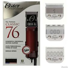 Oster Classic 76 Hair Clipper with 3 Detachable #00000, 000 & 1 Blades
