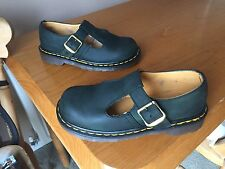 Vintage Dr Martens Polley Verde T Bar Mary Jane Sandalias UK 4 EU 37 Inglaterra