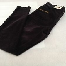 M&S INDIGO COLLECTION BLACK CORD JEGGINGS SIZE 14R BNWOT