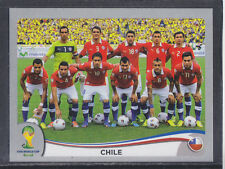 Panini-Brasil 2014 World Cup - # 147 Chile Equipo Grupo-Platinum