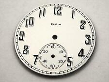 37.75mm White Watch Dial for Pocket Watches Vintage Black Numerl Mrkrs Elgin NOS