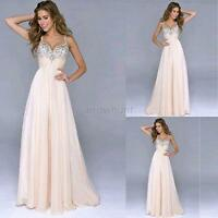 Long Evening Gown Formal Wedding Bridesmaid Ball Prom Party Dress 4size A41
