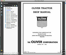 OLIVER Fleetline 66 77 88 Super 55 550 660 770 880 Tractor DEALER SERVICE MANUAL