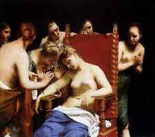 Cagnacci Guido The Death Of Cleopatra A3 Box Canvas