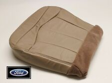 2001 Ford F-150 Lariat Super-Crew F150-Driver Side Bottom Leather Seat Cover TAN