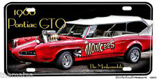 1966 PONTIAC GTO THE MONKEES MONKEEMOBILE LICENSE PLATE MADE IN USA