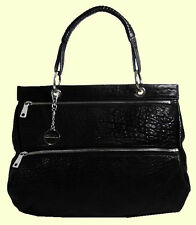 DKNY  Bubble Lamb One Handle Black Leather Tote Bag Msrp $345 * FREE SHIPPING *